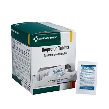 Ibuprofen tablets, 2 per pack - 100 per box