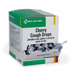 Cherry cough drops, individually wrapped - 100 per box
