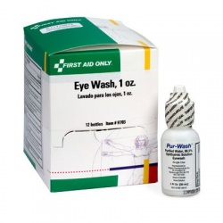 Eye wash, 1 oz. plastic bottle with twist off tabs - 12 per box