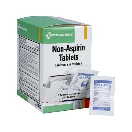 Non-aspirin tablets, 2 per pack - 250 per box