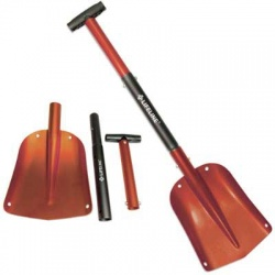 ALUMINUM SPORT UTILITY SHOVEL - 3pc Adjustable Red