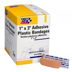 "1""x3"" Adhesive plastic bandage - 500 per box"