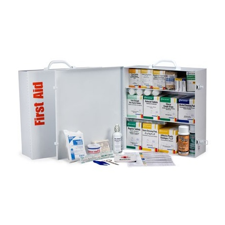 3 Shelf Industrial First Aid Station w/ pkt liner