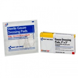 "3""x3"" Gauze dressing pad- 4 per box/Case of 6 @ $1.37 ea."