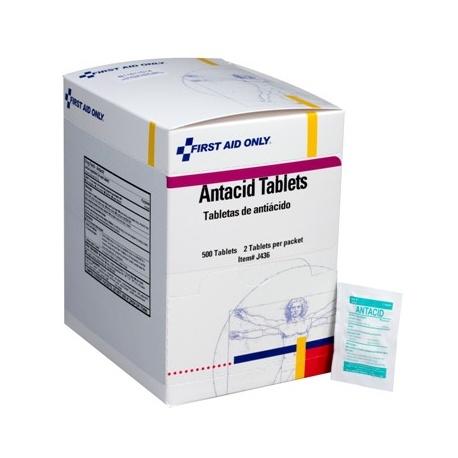 Antacid tablets, (sugar free), 2 per pack - 500 per box