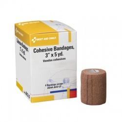 "3""x5 yd.Cohesive elastic bandage (latex free) - 4 per box"