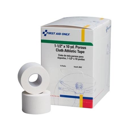 """1-1/2""""x10 yd. Porous cloth athletic tape - 16 per box"""
