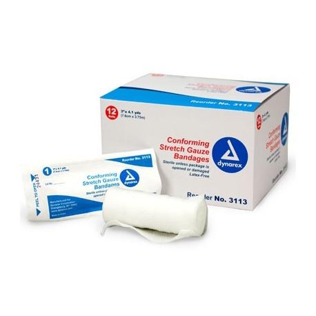 "3""x4.1 yd. Conforming gauze roll bandage, sterile"