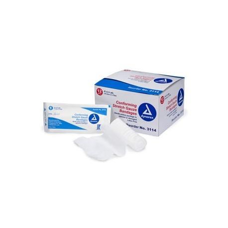 "4""x4.1 yd. Conforming gauze roll bandage, sterile"