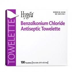 Benzalkonium Chloride Antiseptic Towelette - 100 Per Box