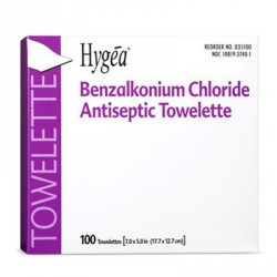 Benzalkonium Chloride Antiseptic Towelette - 100 Per Box Case of 10 @ $5.65 ea.