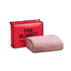 "62""x80"" wool fire blanket and vinyl bag"