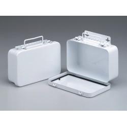 10 Unit, Empty Metal First Aid Case w/Hanger & Gasket - 1 each