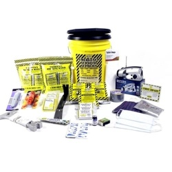 Deluxe Emergency Kit- 3 Person  - Honey Bucket Kit