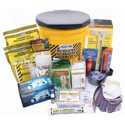 Deluxe Emergency Kit- 4 Person  - Honey Bucket Kit