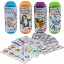 Case of 8 MediBuddy 4 Kidz-Kid Friendly first aid items