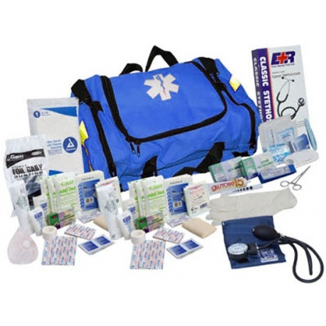 Urgent First Aid™ First Responder Kit - 151 Pieces - Blue