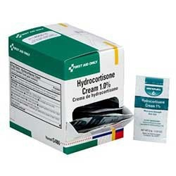 Hydrocortisone Cream 1.0%, .9 gm. - 144 per box