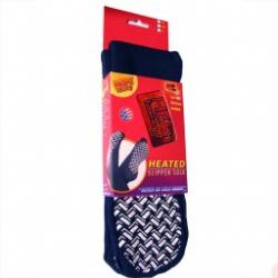 MEDIUM (Women's) - Slipper Sock w/ Warmers 1 pair by Heat Factory