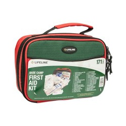 LifeLine First Aid BASE CAMP FIRST KIT- First Aid Kit for a variety of injuries