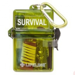 LifeLine First Aid WATERPROOF SURVIVAL KIT for Water, Snow, and the Outdoors
