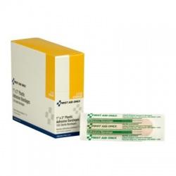 """1""""x3"""" Adhesive plastic bandage - 100 bandages"""