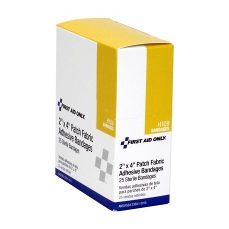 "2""x4"" Elbow & Knee plastic bandage - 25 per box"