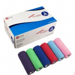 "Dynarex Sensi Wrap Self Adherent Wrap - Rainbow, 2 of Each Color, 6""x 5 yards., 12/cs"