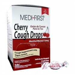Cherry Cough Drops - 125 Per Box/Case of 12