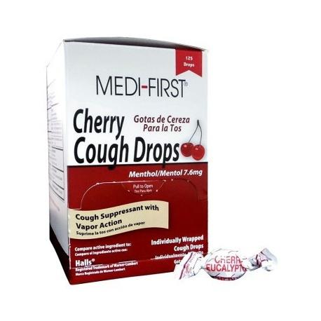 Cherry Cough Drops - 125 Per Box/Case of 12