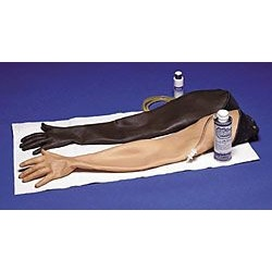 Adult Injectable Training Arm:Skin and Vein Replacement Kit- Black