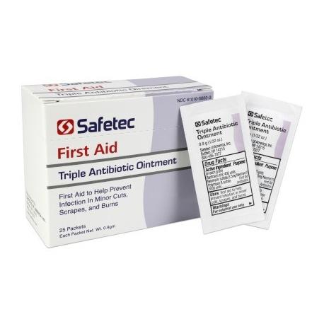 Triple Antibiotic .9gm. Pouch, 25 per box