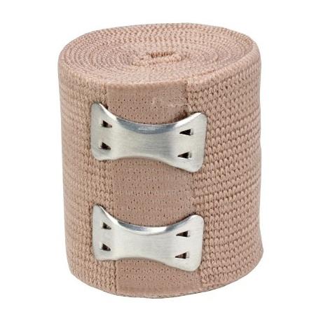 "2""x5 yd. Latex free elastic bandage with fasteners"