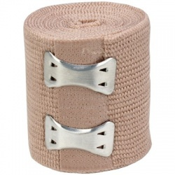 "2""x5 yd. Latex free elastic bandage with fasteners Case of 12 @ $0.50 ea."
