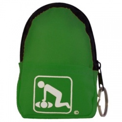 CPR Beltloop/KeyChain BackPack: NEON GREEN - Shield-Gloves-Wipe