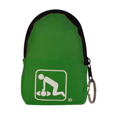 CPR Beltloop/KeyChain BackPack: NEON GREEN - Shield-Gloves-Wipe