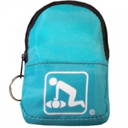 CPR BeltLoop/KeyChain BackPack: TEAL - Shield-Gloves-Wipe
