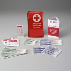 Mini First Aid Kit w/ Tri-Fold Vinyl Case