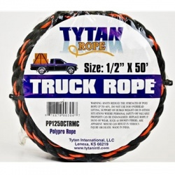 Black & Orange Rope 1/2 inch x 50'