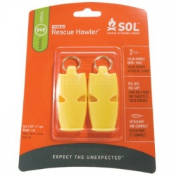Survive Outdoors Longer Rescue Howler Whistle, 2/Pack