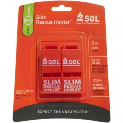 Survive Outdoors Longer SLIM Rescue Howler Whistle, 2/Pack