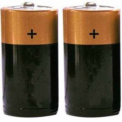 "Alkaline ""C"" Size Batteries, 1 Pair"