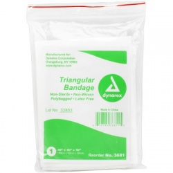 Triangular Sling/Bandage, w/ 2 Safety Pins - 1 each