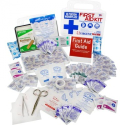 10 Person, 116 Piece Bulk Workplace First Aid Kit, Wall-Mountable and Portable Plastic Case with Gasket