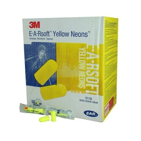 Disposable Uncorded Earplugs - 200 pair per box