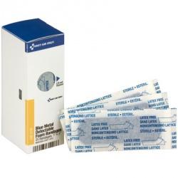 """1"""" x 3"""" Blue Foam Metal Detectable Bandages, 25 each"""