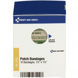 "1.5"" X 1.5"" PATCH BANDAGES, 10 each"