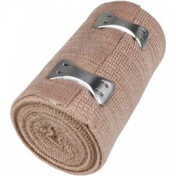 "3""x5 yd. Latex free elastic bandage with fasteners"