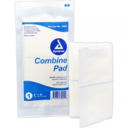 ABD Combine Pad 5 in. x 9 in. Sterile - 1 each