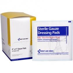 "4""x4"" Gauze dressing pad, 2 per pack - 50 per box"